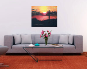 calvary-sunset-grey-sofa-orange-carpet