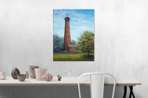 currituck lighthouse painting demo