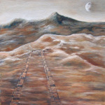 Land Rover Tracks of Mars painting