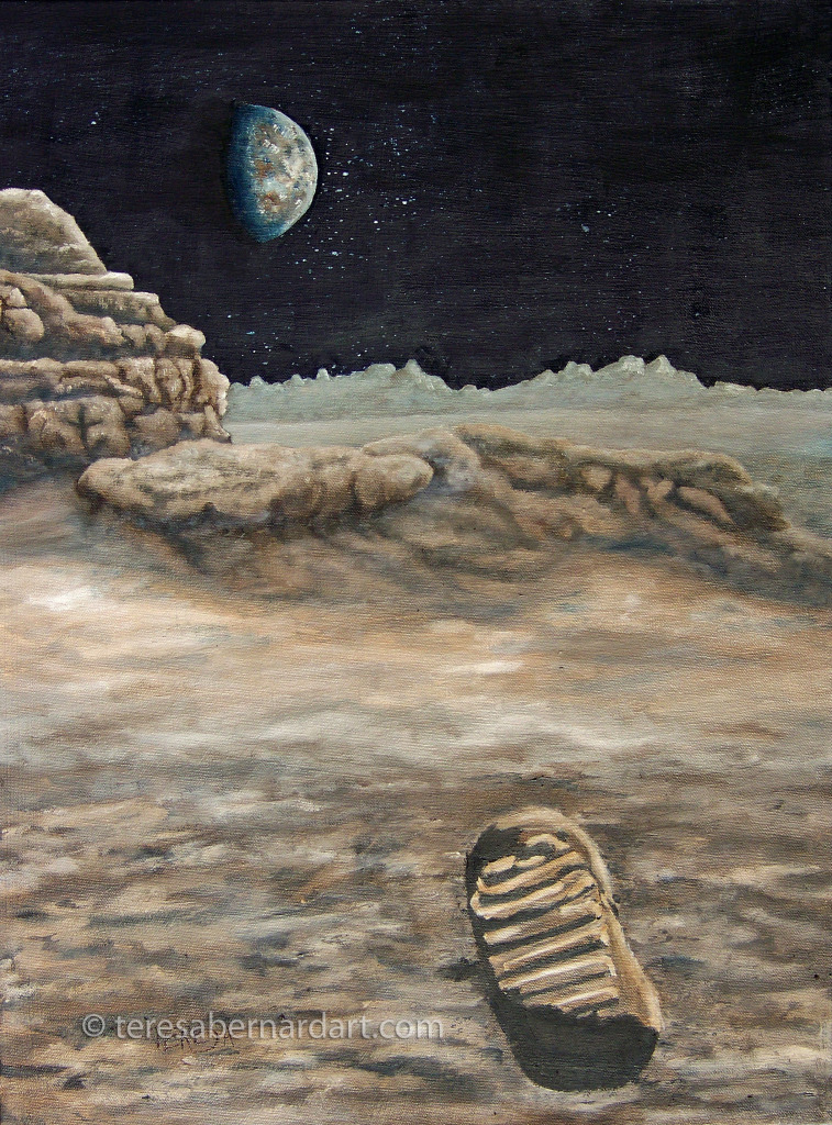 lunar footprint commission painting