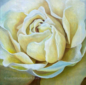 yellow rose of TX painting