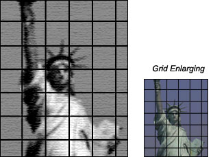 grid enlarging