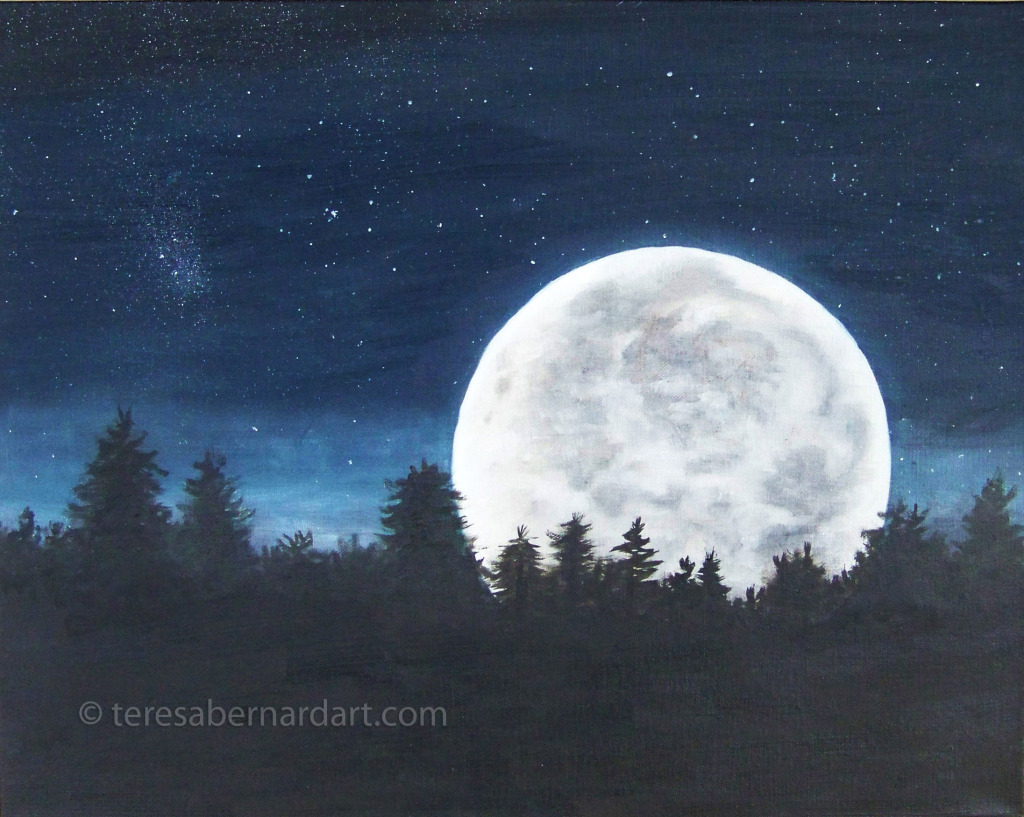 night sky painting