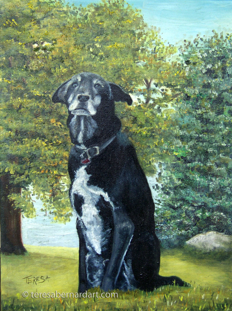 Pet Portrait commission oil painting