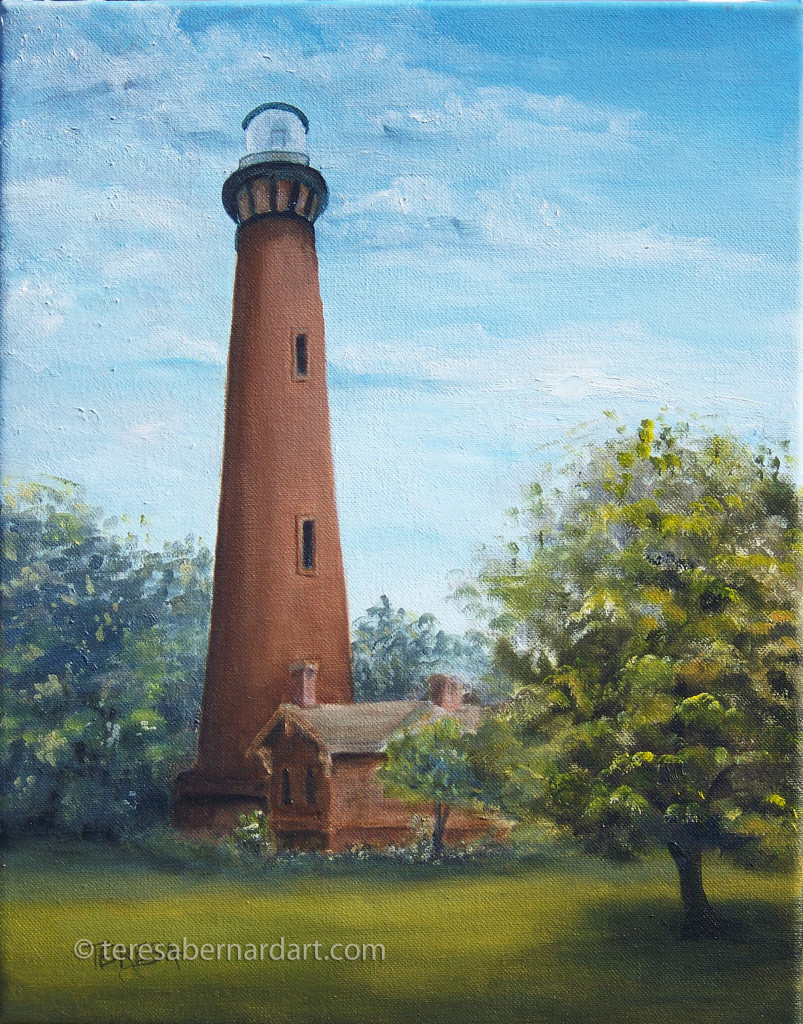 marine landscape outer banks lighthouse painting
