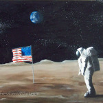 First Man on the Moon oil painting