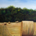 Hay bales oil on canvas