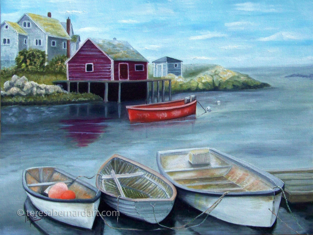 Peggy's Cove Revisited commission painting