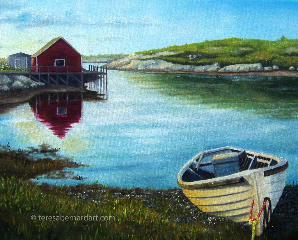 Peggy's Cove commission oil painting