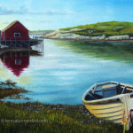 Return To Peggy's Cove oil painting