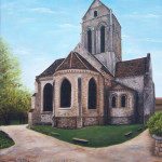 Auvers, France church painting