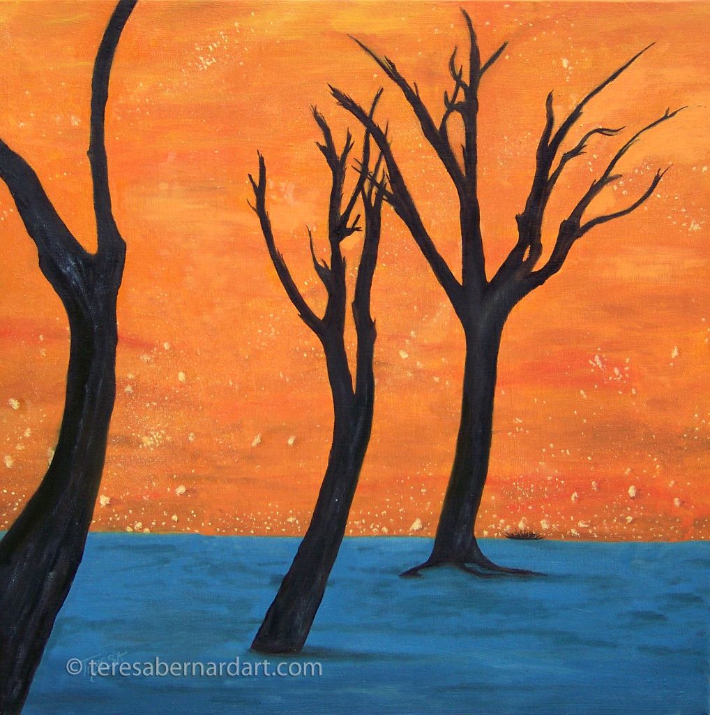 African Camelthorn Trees painting