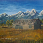 The Grand Teton Mountains painting