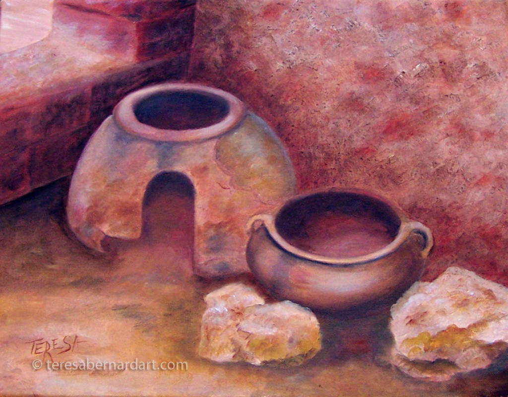 clay Stove and Pottery painting
