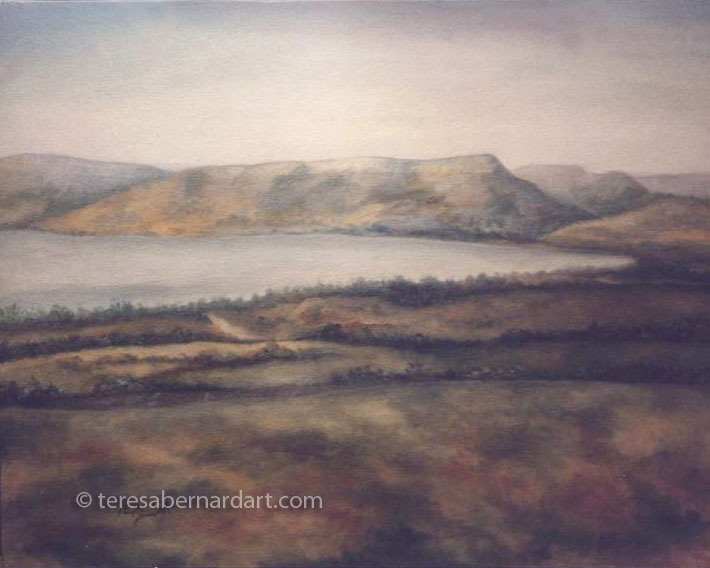 Sea of Galilee painting