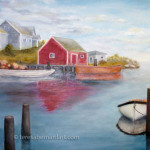 peggy's cove nova scotia oil painting
