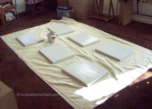 canvas with gesso layer