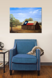 TX Flag Barn painting demo