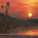 Sunset Over Texas oils on canvas