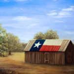 Texas Flag Barn artwork