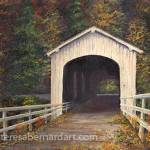 Covered Bridge Of Lane County Oregon artwork