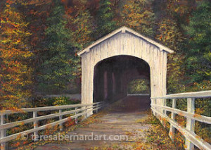 covered bridge in Lane County, OR