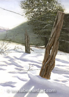 winter snow painting
