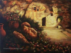 Garden Tomb, Jerusalem painting
