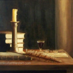 The Study still life oil painting