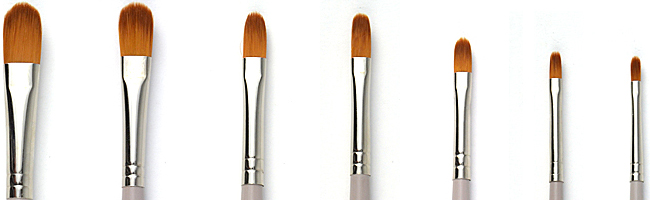 filbert oil painting brush