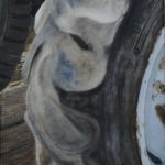 tractor tire oil painting