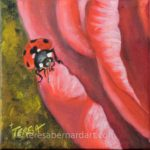 ladybug on a flower painting
