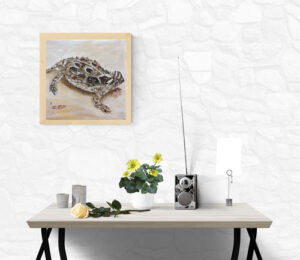 painting of the Texas horned lizard