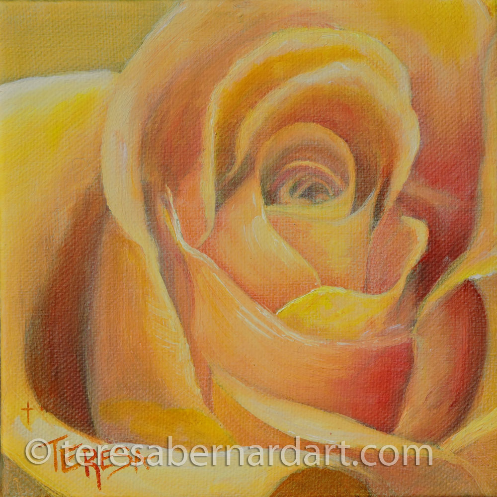 Yellow Rose flower blossom artwork