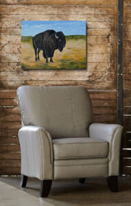 painting of an American Bison