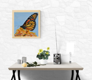painting of the monarch butterfly