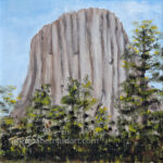 Devils Tower painting by Teresa Bernard