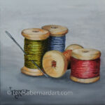 Great-Grandma's Sewing Thread #2 painting