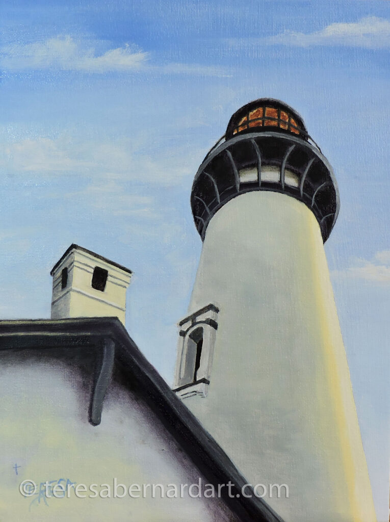 Yaquina Head Lighthouse painting