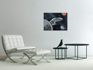 painting with starship enterprise