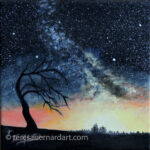 Starry Night with Lone Scraggly Tree